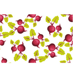 seamless pattern with beets pattern under the vector image
