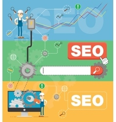 SEO optimization infographic vector