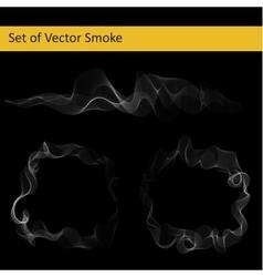 Set of abstract smoke vector image
