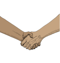 sketch of handshaking vector image