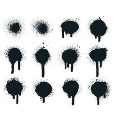 spray paint dots splatter painted drips grunge vector image