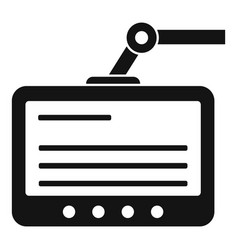 Surgery monitor icon simple style vector