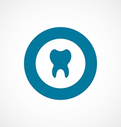 Tooth bold blue border circle icon vector