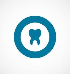 tooth bold blue border circle icon vector image