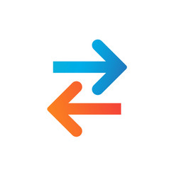 transfer left and right arrows iconcan be used vector image