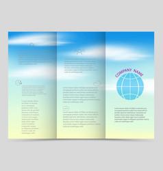 Tri-fold brochures square design templates vector