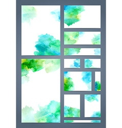 Watercolour design templates vector image