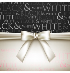 White bow on black and white background vector