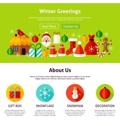 Winter Greetings Web Design vector image