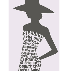 Woman wearing dress made from quote vector image