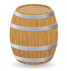 Wooden barrel 01 vector