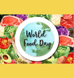 World food day frame design with capelin pock vector