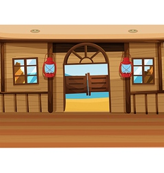 A saloon bar with two lamps vector