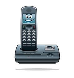 Cordless telephone vector image