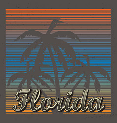 florida abstract background vector image vector image