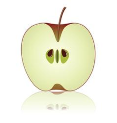 half of apple vector image vector image