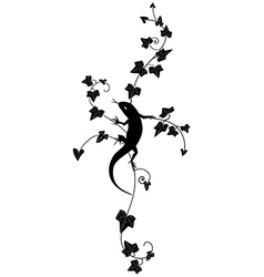 ivy and lizard vector image vector image
