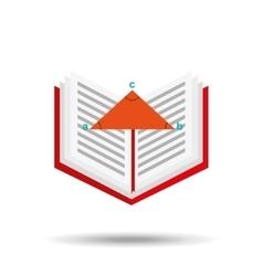 book school open and triangle geometri vector image