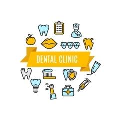 Dental Clinic Concept vector image vector image