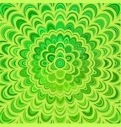 green abstract floral mandala background - vector image vector image