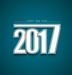 New year abstract wishes with blue background vector