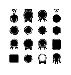 setof medals isolated on white label designs vector image