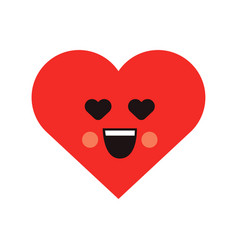 smile loving heart icon vector image vector image