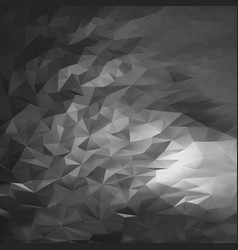 abstract black triangular storm clouds heaven vector image