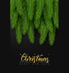 background with realistic christmas tree branches vector image vector image