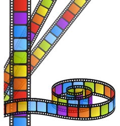 Colored film strip vector image