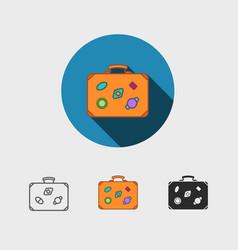 luggage symbol vector image vector image