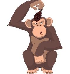 monkey with a grenade vector image vector image