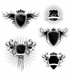 shield designs set vector image
