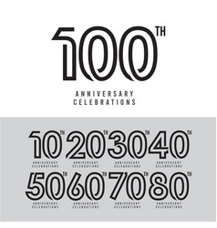 100 th anniversary celebration template design vector