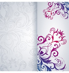 Abstract background with floral item vector image