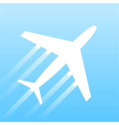 Airplane transport vector image