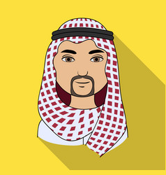 Arabhuman race single icon in flat style vector