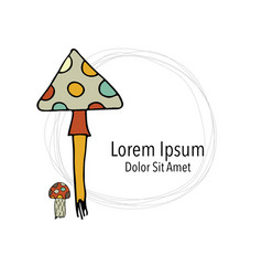 art mushroom sketch for your design vector image