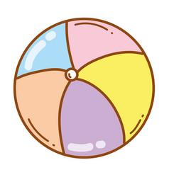 ball cute cartoon vector image