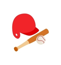 baseball icon isometric 3d style vector image