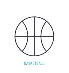 Basketball ball outline icon sports equipment vector