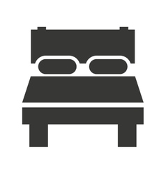 Bed bedroom rest icon vector