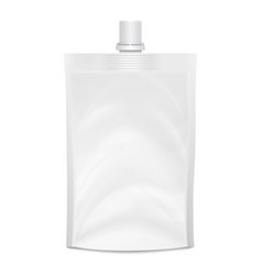 Blank doypack realistic white doy-pack vector