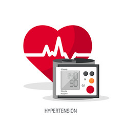 Blood pressure concept in flat style vector