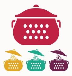 Boiling pot vector