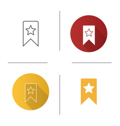 Bookmark with star icon vector