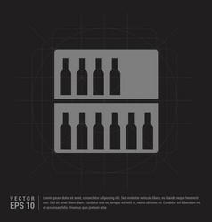 bottles on bar counter icon - black creative vector image