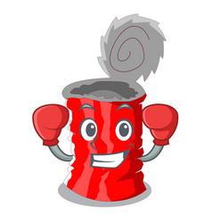 Boxing tin can shape on a cartoon vector