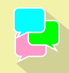 Bubble speak flat icon conversation vector