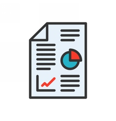 Business Report Icon vector